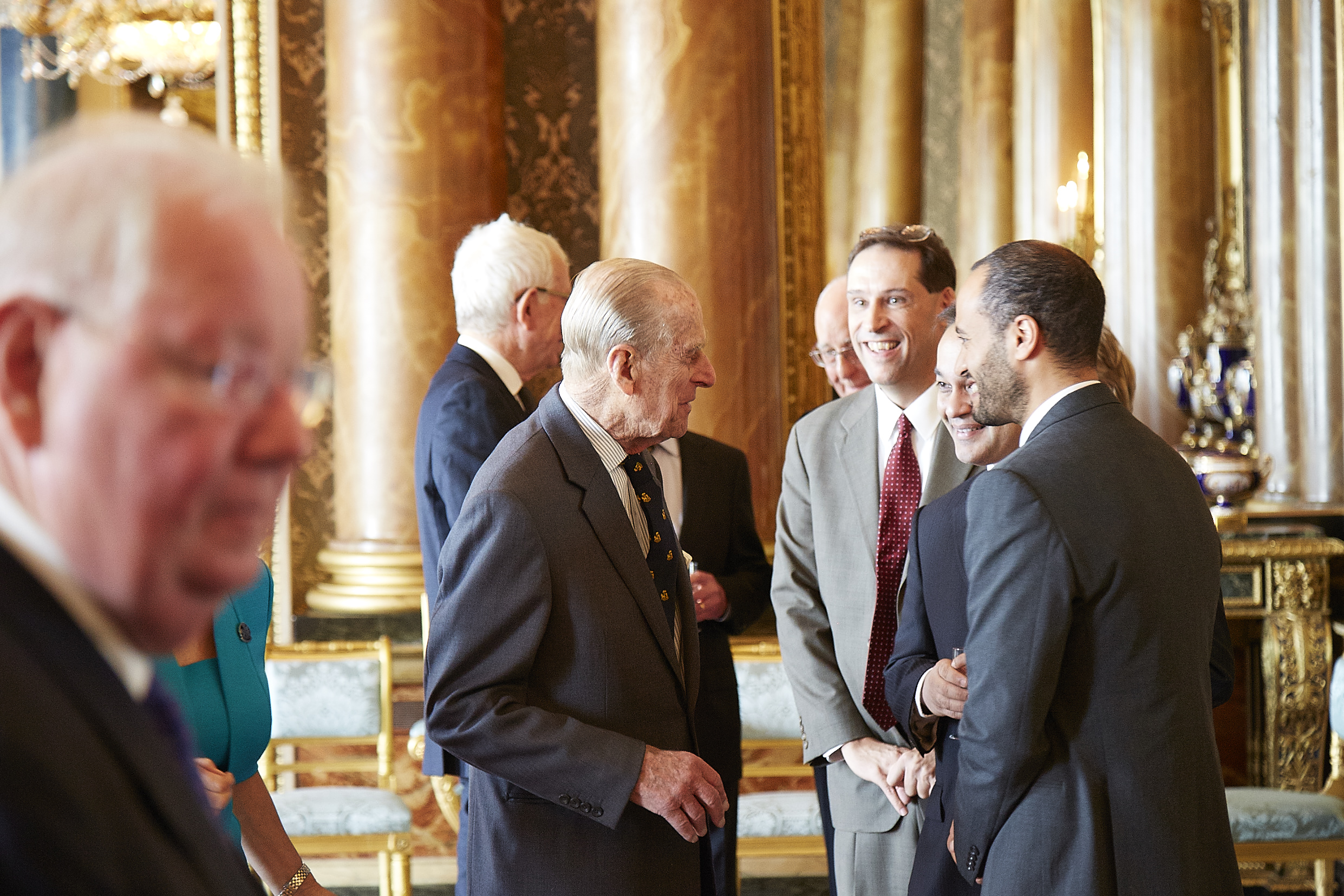 Litaker with Prince Philip